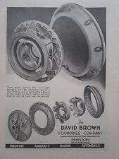 9/1946 PUB DAVID BROWN FOUNDRIES ALLOY CAST PARTS GAS TURBINES ORIGINAL AD
