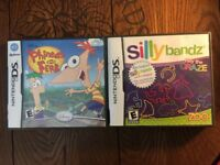 Silly Bandz + Phineas and Ferb(Nintendo DS Game Lot) Tested and Guaranteed