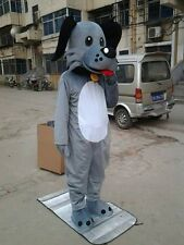 Customade The new gray Dog adult Mascot Costume for Festival Fancy dress