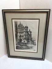 Paul Geissler Etching 1919 Pencil Signed By Artist Framed Original
