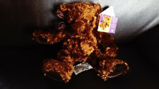"""PELUCHE - RUSS BERRIE""""DELICIOUS CHOCOLATE""""-14cm assis-20 debout-collector-rare-"""