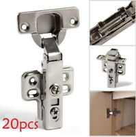 20x 35mm Hydraulic Slow Shut Clip-On Plate Soft Close Kitchen Cabinet Door Hinge
