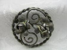 Vintage Wedding Oval Cannetille Filigree Brooch Bridal Wedding Jewelry Vintage Dimensional 800 Silver Filigree Pin