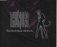 THUNDER The Devil made me do it  2 TRACK CD NEW - NOT SEALED