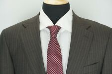 Canali RECENT Brown Label Gray Pinstriped 100% Wool 2 Piece Suit Sz 38R MINT