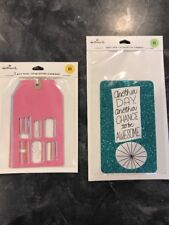 2 Packs (4 total tags) Of Hallmark Gift Tags Woo Hoo, sparkly blue