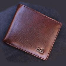 Business Leather Wallet Men brown Pocket Card Holder Clutch Bifold Slim Purse