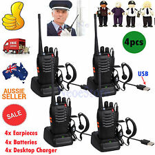 4pcs Baofeng Pofung BF-888S Two Way Ham Radio UHF 400-470MHZ Walkie Talkie 16CH