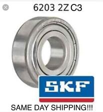 SKF 6203 ZZ,6203 2Z/C3, Ball Bearing 17x40x12, ABEC 3/C3 SAME DAY SHIPPING!!!
