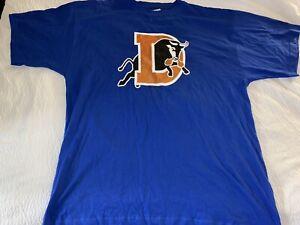 Majestic Durham Bulls Blue Logo Front T Shirt Men's 2XL
