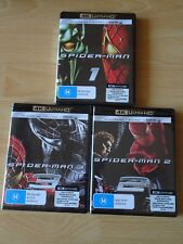 Spider-man Trilogy (1, 2, 3) 4K + Blu Ray, NEW and Region Free