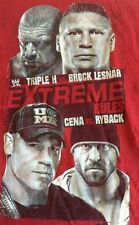 Wwe Extreme Rules 2013 Xl Shirt Red Cena Ryback Triple H Brock Lesner Wwf Ecw
