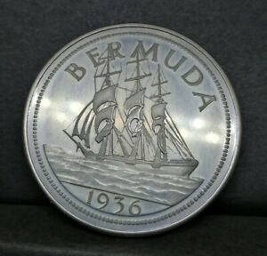 Bermuda Fantasy Coin Edward VIII 1936 Crown Size Prooflike Quality (17)