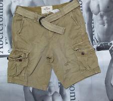 NWT Hollister HCO  Camo Stone Khaki Destoryed Style Cargo Shorts By Abercrombie