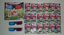 2012 Herald Sun AFL 3D Footy card set + folder + 2 x glasses all 18 packs sealed