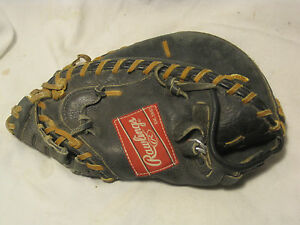 vintage RAWLINGS catcher's mitt catcher glove pro model baseball ball