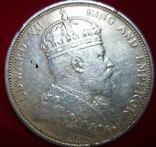 1903 Straits Settlements One Silver Dollar King Edward