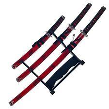 Snake Eye Tactical 3 Piece Marble Red Katana Sword Set