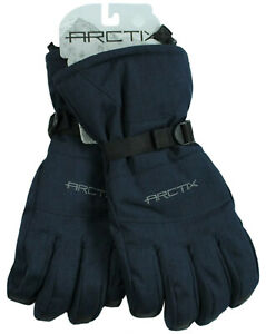 Arctix Mens S/L/XL Insulated Snowcat Gloves Winter Cold-Weather Navy Blue