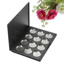 12Pcs 26mm Pro Empty Magnetic Eyeshadow Pigment Aluminum Palette Pans Makeup DIY