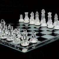 Jeux d'echecs en verre - Échiquier dimension 25x25cm + 32 pièces