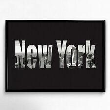 New York Fine Art Kunstdruck DIN A4 Schwarz Weiß Fotografie Wandbild Druck Deko