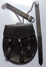 SPORRAN 3 tassels with belt  19 x 18 cm K13