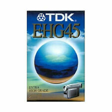 TDK E-HG45 EXTRA HIGH GRADE VHS CASSETTE TAPE SIX IN TOTAL