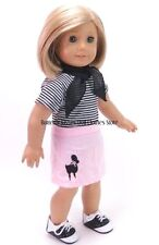 Modern Poodle Skirt Set 18 in Doll Clothes Fits American Girl