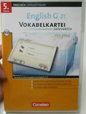 5. Klasse Lernsoftware Englisch G 21 Vokabelkartei interaktiv CORNELSON