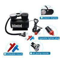 12V Car Electric Mini Compact Compressor Pump Bike Tyre Air Inflator 300 psi