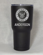 RTIC Rambler 30 oz cup tumbler engraved  US Navy United States Custom