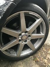 18 Inch AMG MERC. C Class W204 Alloys - STAGGERED SET X4 with continental tyres