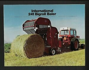 IH INTERNATIONAL 241 BIG ROLL BALER 8 PAGE BROCHURE AD-31614-C 8/74 NOS