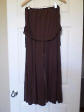 BDA Belly Bandit Brown fold waist Bamboo flowy pants Sz M/L