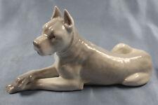 dogge Porzellanfigur hund hundefigur porzellanhund Heubach um 1900
