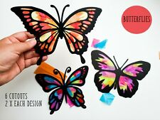 Butterflies-Suncatcher Kit-DIY-Kids Craft-Party Favor-Classroom-Stained Glass