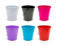 24 X Bright Colour Metal Bucket With Handle | Home Decor Plants Party Favours