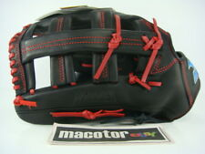 "New Mizuno Warriga 13"" Outfield Baseball / Softball Glove Black Red Pro LHT Mitt"