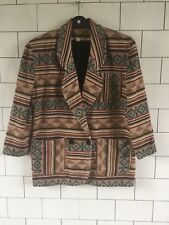 Womens Vintage Retro Aztec Tribal Navajo Urban jacket coat size UK 14 #003