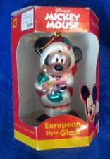 Disney's Mickey Mouse European Style Glass Ornament 2000