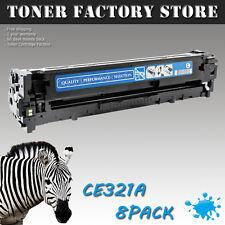 8PK CE321A 128A Cyan Toner For HP Color LaserJet Pro CM1415 CM1415fn CM1415fnw