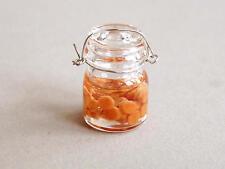 Weckglas mit eingelegten Möhren Glas Puppenstube  1:12