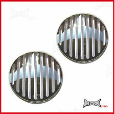 "Chrome Grill Headlight Covers - Fits Humber Hawk with 7"" round driving lights"