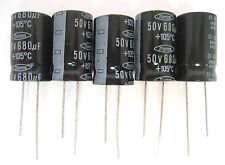 680uF 50V 105C Radial Lead Electrolytic Capacitors:  5/Pack: Great Price