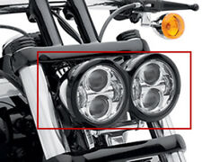 "4.65"" LED Headlight Twin Dual Projector for Harley Dyna Fat Bob FXDF 08-16 White"