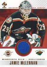 2001-02 Private Stock Hockey Game JERSEY #53 Jamie McLennan Minnesota Wild