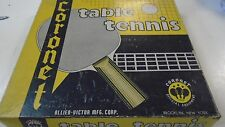 Coronet Table Tennis Official Equipment Ping Pong Set Vintage Paddle Ball Net