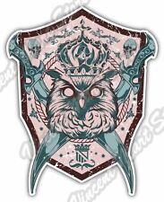 """Owl Illuminati Freemasonry Design Car Bumper Vinyl Sticker Decal 4""""X5"""""""