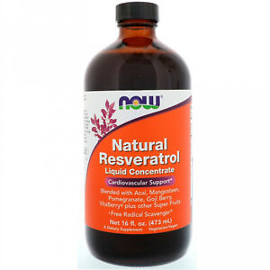 Now Foods, Natural Resveratrol, Liquid Concentrate, 16 Fl Oz (473 Ml)